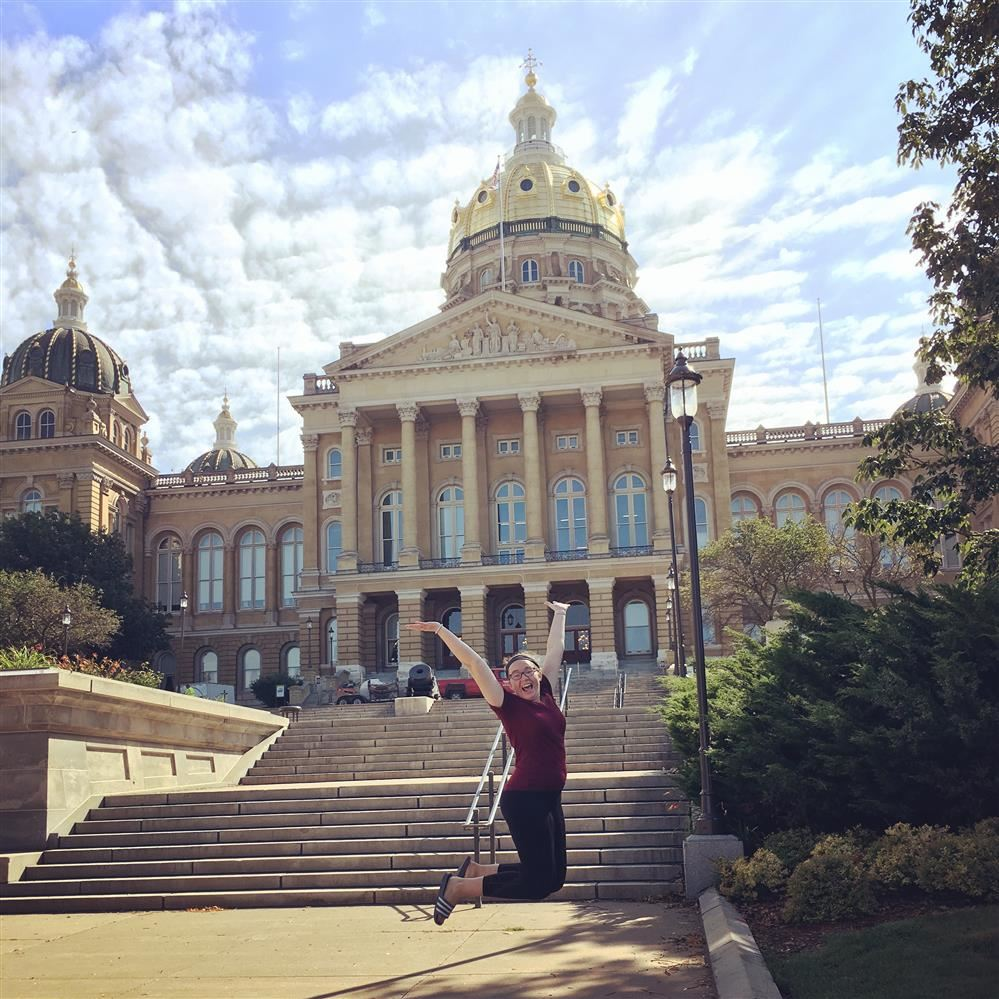 Ms.Moss at the Iowa State capitol